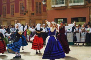 Folk dancers in Oviedo, Spain, Asturias
