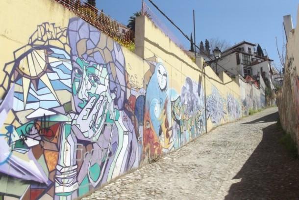 Graffiti in the Realejo neighborhood in Granada, Spain
