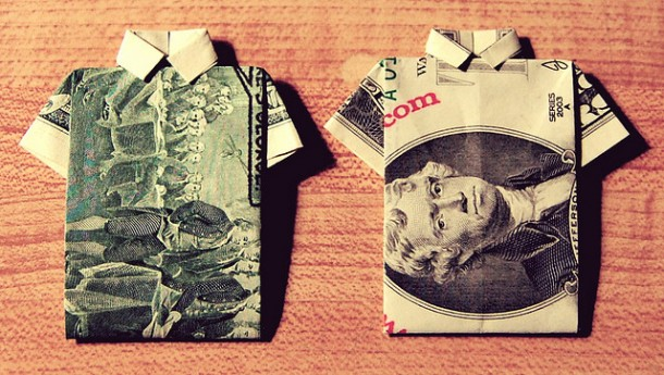 Apartments in Madrid can be expensive – two origami dollars won't suffice…   Fun in NH.