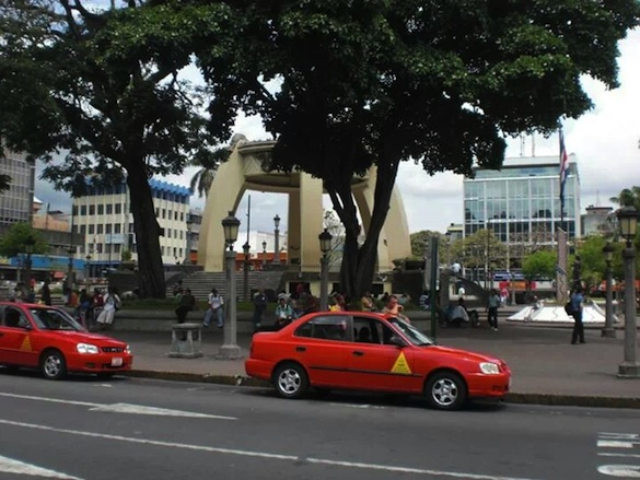 The taxis in Costa Rica are easy to find - they are everywhere!    Malia Williams