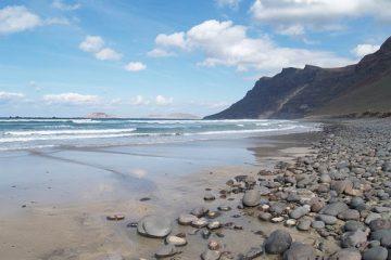 Playa Famara en Gran Canaria