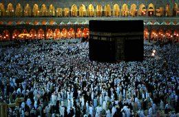Muslim Prayers at Kaaba, Mecca