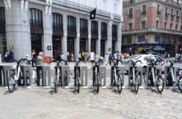 BiciMad rental stand