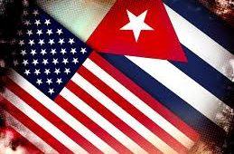USA, cuba, relations, flags