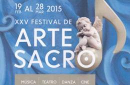 Cartel festival, arte sacro