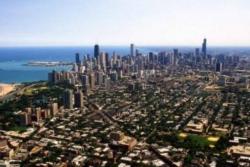 Chicago, Windy City, aerial view