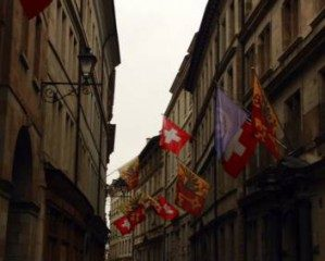 Switzerland, Geneve, flags, gruyere