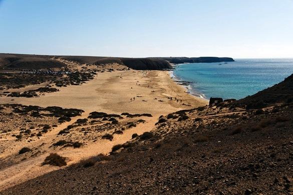 Papagayo Beach in Lanzarote, Canary Islands (Spain)