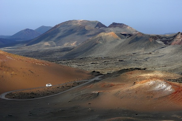 The volcanic landscape of Lanzarote, Canary Islands