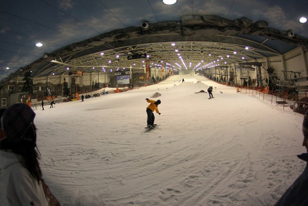 Xanadu year-round indoor ski slope.   ferendus.