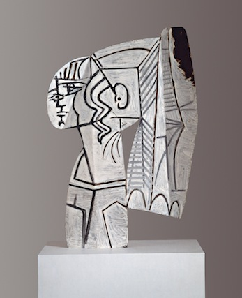 Pablo Picasso, Sylvette, 1954 oil painting on both sides on cut-out sheet metal, 69.9 x 47 x 1 cm © Succession Picasso / 2013 ProLitteris, Zurich