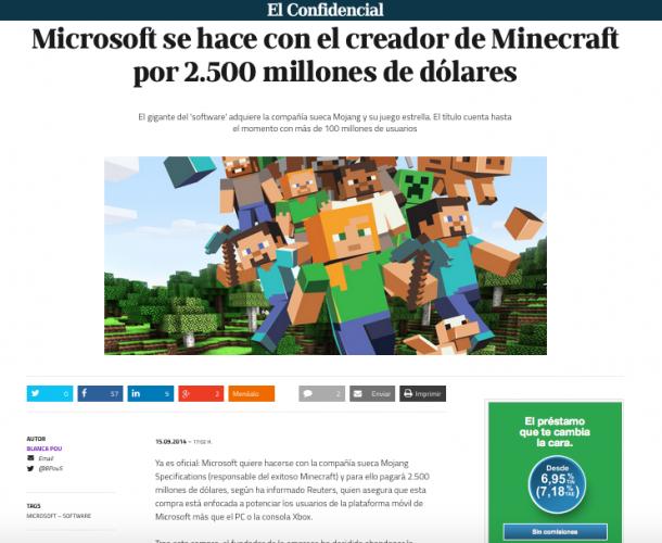 Minecraft El Confidencial