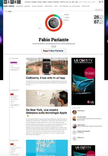 Fabio Pariante's author profile in Wired Magazine