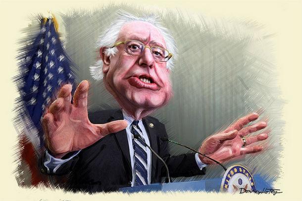 DonkeyHotey  | Bernie Sanders - Caricature (Painting)