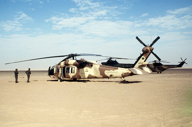 An US-built Saudi Arabian army UH-60 Blackhawk helicopter | United States Air Force