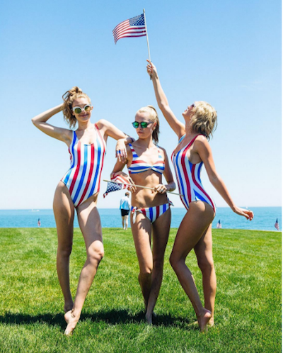 Taylor Swift and friends in matching swimsuits   Image via Instagram